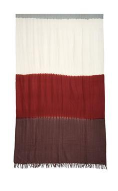 Clamp dyed pure wool shawl. #madeinindia #purewool #horizontalstripes #contemporary #naturalindigo #handmade #handdyed #clamping #satayamjaipur #madeinindia