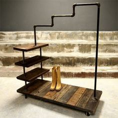 how to make a clothes rack from pipe - Google Search