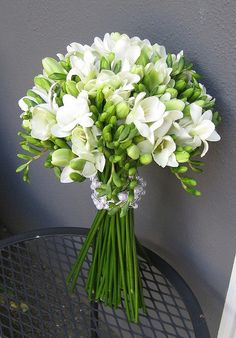 White freesia - my absolute number one favourite. I love their almost peppery smell. They have to be white!
