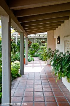 Sherman Library and Gardens Patio Tiles, Outdoor Tiles, Outdoor Rooms, Outdoor Living, Spanish Style Homes, Spanish House, Patio Design, House Design, Parcs