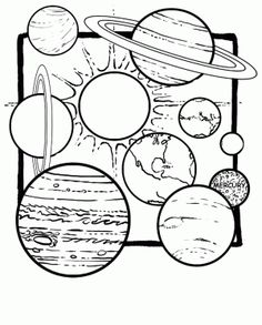 The Solar System Coloring Pages from Solar System Coloring Pages for Kids. We've collected some beautiful coloring pictures of the universe for you. On this page, there is a solar system coloring pages for you. Planet Coloring Pages, Space Coloring Pages, Coloring Sheets For Kids, Kids Coloring, Coloring Rocks, Colouring, Space Solar System, Solar System Planets, Our Solar System