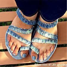 Resultado de imagem para Recycled denim shoes
