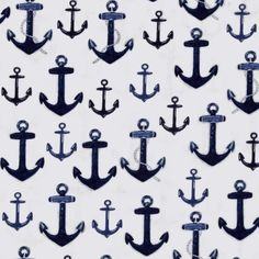 Kaufman Down By The Sea Anchors Navy from @fabricdotcom  Designed by Mary Lake-Thompson for Robert Kaufman, this nautical cotton print fabric is perfect for quilting, apparel and home decor accents. Colors include blue, grey and white.