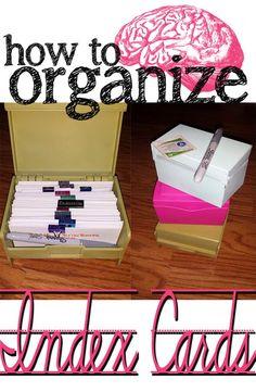 How to organize those pesky index cards! Nursing Student Blog. Scrub-ed.com Re-pin and read for Nursing School!
