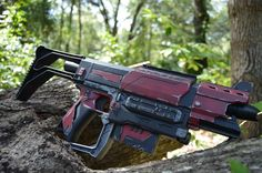 Crimson Collector Custom Painted Nerf Recon MKII by ParadoxProps Nerf Recon, Nerf Mod, Nerf Stampede, Modified Nerf Guns, Cool Nerf Guns, Gamer Tags, Cosplay Weapons, Paintball Guns, Crossbow