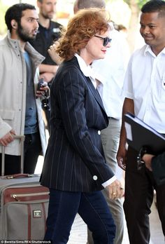 Also still in Cannes: Actress Susan Sarandon is among the stars still in Cannes, almost tw...