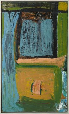 Peter Lanyon - Harveys Pool, (1954)  Oil on Masonite  98.4 x 59.1 cm