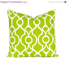 SALE Green Pillow Covers Decorative Pillow by FestiveHomeDecor