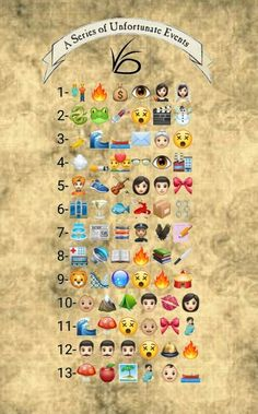 """""""Asoue in emojis """" Movies And Series, Netflix Series, Book Series, Movies And Tv Shows, Lemony Snicket Series, A Series Of Unfortunate Events Quotes, Les Orphelins Baudelaire, Magia Elemental, The Best Series Ever"""