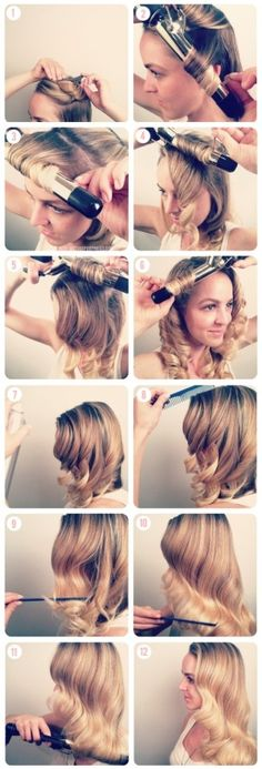 How to create simple vintage waves hair tutorial