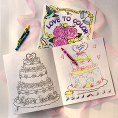 Wedding Day Coloring Book for Flower Girl and Ring Bearer | #exclusivelyweddings | #flowergirlgifts | #ringbearergifts