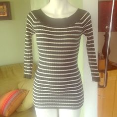 """Selling this """"Dark green & white striped sweater"""" in my Poshmark closet! My username is: rxdaughtet. #shopmycloset #poshmark #fashion #shopping #style #forsale #Sweaters"""