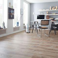 Weiß Modernes Arbeitszimmer Mit Qualitäts Vinyl Von Planeo In Holzoptik |  Arbeitszimmer Minimal Style