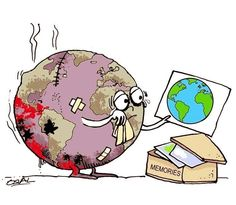 Why are we hurting our planet? Why don't we learn and try. Why are we hurting our planet? Why don't we learn and try to restore our w - Our Planet, Save The Planet, Planet Earth, Salve A Terra, Save Our Earth, Environmental Art, Faith In Humanity, Political Cartoons, Mother Earth