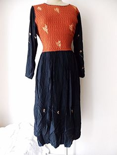 Maxi Dress Size Medium BOHO Hippie Embroidered India Grunge Floral  #Harvest #Sheath #Casual