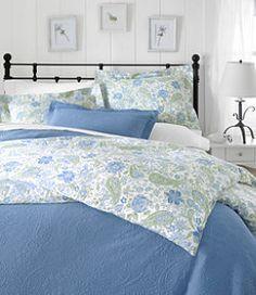 LLBean Wrinkle Resistant Comforter Cover Floral