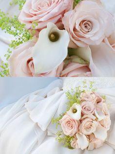 Delicate, white, #pink & blush spring #wedding bouquet. teresaferrando.com