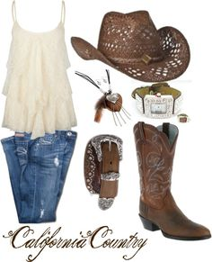 """Leather and Lace"" by californiacountry on Polyvore"