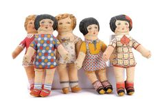 Cloth dolls are often a children's favorite toy and they are very easy to make from spare pieces of fabric or unwanted older