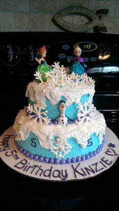 Disneys Frozen cake Elsa Anna Sven Christof and more Almond