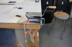 Happy Faces Chicago: The Printmaking Process: Pasta Machine Printing at Lillstreet Art Center