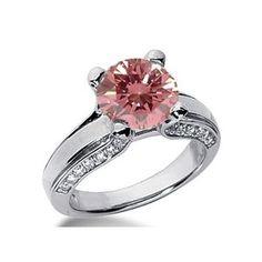 1.40 Karat Pink Diamant Ring aus 585er Weißgold. Ein Diamantring aus der Kollektion Pink von www.pearlgem.de