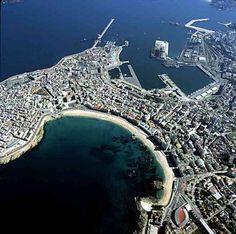 A Coruña desde el cielo.
