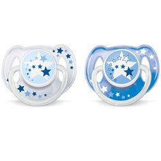 Philips Avent /White Night Time Toddler 6-18 Months Pacifiers