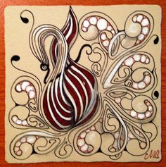 """Shelly Beauch: The Diva's Weekly Challenge #242: """"New Official Tangle: Gourdgeous"""""""