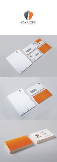 corporate identity Consultrix by Przemek Królikowski, via Behance