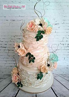 Vintage and Ruffles - Cake by Sumaiya Omar - The Cake Duchess SA