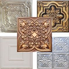 How to Install a Tin Ceiling. Hmmmm...kitchen, maybe? I would paint them, no shiny ceilings here lol