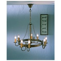 Lustrarte 359/8V Eight Light One Tier Chandelier from the Medieval Collection