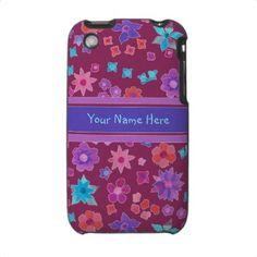 Custom Flower-Power Iphone 3 Speck Case by helikettle