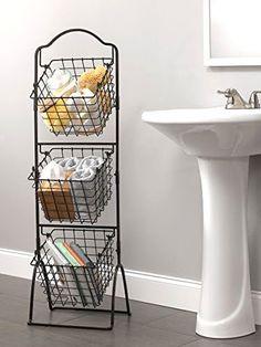 Wire Storage Metal Basket Bins Shelving 3 Tier Rack Organizer Fruit Pantry Stand #GourmetBasicsbyMikasa