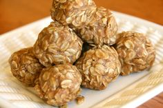"Sorry to throw two peanut butter no bake recipes at you in a row, but if you really think about it, its not that bad at all. I haven't had time to really ""bake"" anything recently, in fact, this and the next post will be no bakes. These peanut butter oatmeal buckeye balls are simple, filling,... Read More » #healthy #snack for #energy and #weightloss #recipes #food"