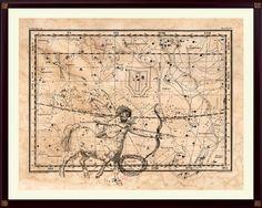 Sagittarius Constellation Print, Astrological Sign, Astronomy Decor, Constellation Map, Sagittarius Print, Astrology Gifts, Astronomy Art by DicosLand on Etsy