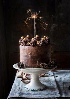 Nutella Stuffed Chocolate Hazelnut Dream Cake - The Kitchen McCabe Hazelnut Cake, Chocolate Hazelnut, Chocolate Desserts, Cupcakes, Cake Mix Cookies, Pretty Cakes, Beautiful Cakes, Amazing Cakes, Dark Food Photography
