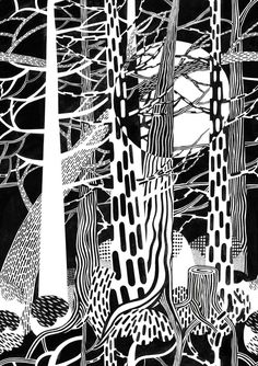 Fir Forest - Cecilia Pettersson - Wall Mural & Photo Wallpaper - Photowall