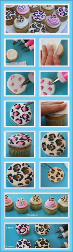 Leopard Print Cupcakes~Free Blog Tutorial!