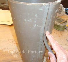 How to Make a Clay Slab Tall Vase? Handbuilt Lesson