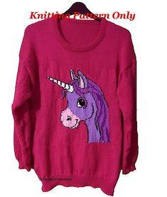 Childrens & Adults Cute Unicorn Jumper / Sweater Knitting Pattern PDF Instant Do… - Knitting Charts Unicorn Knitting Pattern, Unicorn Cross Stitch Pattern, Kids Knitting Patterns, Jumper Knitting Pattern, Jumper Patterns, Knitting Blogs, Knitting Charts, Free Knitting, Baby Knitting