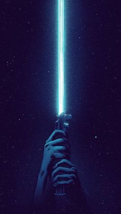 Blue Lightsaber iPhone 6 / 6 Plus wallpaper