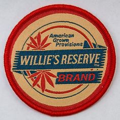 Sweet little #patch I designed for @williesreserveofficial as part of our #merchandise lineup for @luckreunion this year. These things went like hot cakes yesterday! ... ... ... #design #graphic #graphicdesign #merch #cannabis #marijuana #weed #embroidery #willienelson #vector #illustrator