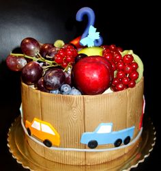 torta, cake s ovocím