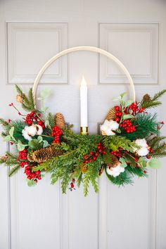 DIY Embroidery Hoop Christmas Wreath,How to make an embroidery hoop wreath for Christmas What is embroidery ? Generally, embroidery is a special means of textile processing, in which serv. Christmas Wreaths To Make, Diy Christmas Ornaments, Holiday Crafts, Christmas Time, Christmas Decorations, Christmas Things, Christmas Quotes, Christmas Ideas, Embroidery Hoop Crafts