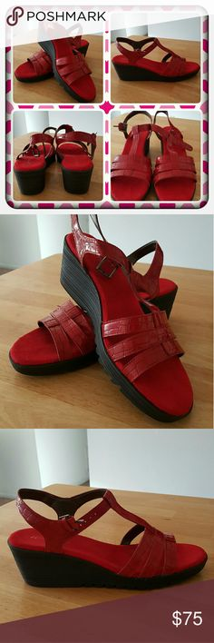 ❤ NWOT Woman's Red Sandals Size 10M ❤ Brand New Never Worn Red Wedge Sandals By Aerosoles Size 10M. These Are Super Cute & Comfortable To Wear All Day Great For Spring & Summer Time. Excellent Condition  PAYPAL  TRADES  OFFERS PRICED LOW TO SELL ❤ AEROSOLES Shoes Sandals