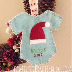 Baby's First Christmas Ornament - handmade felt ornament tutorial