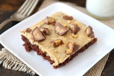 Chocolate Sheet Cake with Peanut Butter Frosting Recipe