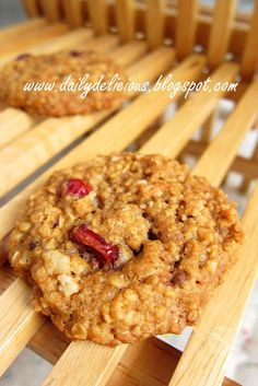 dailydelicious: High Fiber Oat and Cranberry Cookies: Healthy and delicious cookies for everyone